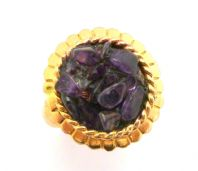 Vintage Amethyst Chip Ring By Exquisite.